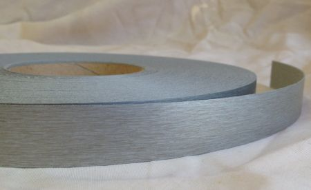 22mm Brushed Aluminium Iron On Melamine Veneer Edging