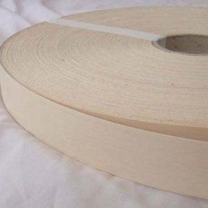 40mm Beech (White) Iron On Wood Veneer Edging