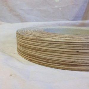 50mm Zebrano Iron Iron On Wood Veneer Edging